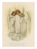 Three Young Angels Lámina giclée por Phillips Brooks