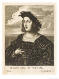 Raffaello Sanzio Italian Artist Giclee Print by Nicolas de Larmessin
