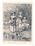 Marie Antoinette Depicted at the Petit Trianon Versailles Playing at Being a Shepherdess Giclee Print by C. Delort