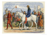Thomas Earl of Lancaster is Lead to His Execution Giclee Print by James Doyle