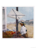 Woman on a Fruit Stall Mollendo Peru Giclee Print by A.s. Forrest