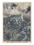 Sub-Lieutenant Catherine Theodoric of the Romanian Army is Killed in Action Gicleetryck av Eugene Damblans