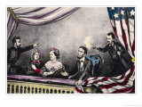 Abraham Lincoln President of the United States is Assassinated at the Theatre by John Wilkes Booth Reproduction procédé giclée par Currier & Ives