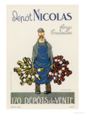 Poster for the Nicolas Chain of Wine Shops France Giclée-Druck von Dransy
