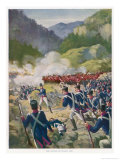Battle of Busaco 1810 Giclee Print by E. Anson Dyger