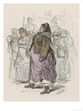 Women Communard Prisoners are Marched to Versailles by Government Troops for Punishment Giclee Print by Albert D'Arnoux (Bertall)