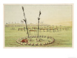 Cemetery of the Mandan People Giclee Print by George Catlin