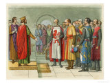 Henry III Confers with Parliament Giclee Print by James Doyle