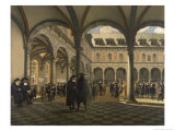 General Scene at the Amsterdam Stock Exchange Giclee Print by Jhiob Berckheyde
