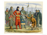 Piers Gaveston the Favourite of King Edward II is Beheaded Giclee Print by James Doyle