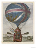 Vincent Lunardi Makes His Second Ascent from St. George's Fields London Giclee Print by J. Dighton