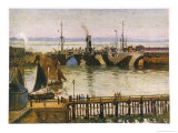 Camouflaged Ships in Harbour at Le Havre Giclee Print by Charles Bryant