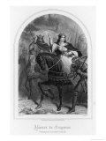 Eleanor of Aquitaine (Or of Guyenne) Rides East with Her Husband Louis VII Giclee Print by  Follet