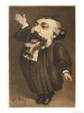 Leon Michel Gambetta French Lawyer and Statesman Premium Giclee Print by André Gill