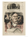 Charles Augustin Sainte-Beuve French Man of Letters: a Satirical View Giclee Print by André Gill
