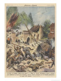 Germans Crush Belgium Giclee Print by Achille Beltrame