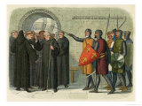 Monks at Christchurch Expelled Giclee Print by James Doyle
