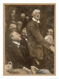 Austen Chamberlain Warns Against German Power Giclee Print by Eduard Thony