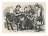 Buying a Cow in Scotland Giclee Print by Geikie 