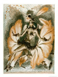 Josephine Baker Dancer in an Elaborate and Revealing Costume Premium Giclee Print by Armand Vallee