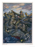 German Dragoons Charge Giclee Print by Otto Flechtner