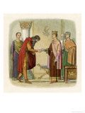 King Henry II of England Authorises Dermod to Levy Forces Giclee Print by James Doyle