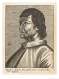 "Bartolommeo De Sacchi Known as ""Platina"" Italian Humanist and Historian of Cremona Giclee Print by Nicolas de Larmessin"