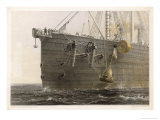 "When the Cable Breaks in Mid- Ocean a Buoy is Launched from the ""Great Eastern"" to Mark the Spot Giclee Print by Robert Dudley"