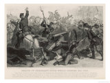 Retreating from the Confederates Federal Troops are Killed as They Try to Spike Their Guns Giclee Print by J.j. Cade