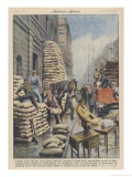 Londoners Prepare Blitz Giclee Print by Achille Beltrame