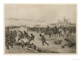 British Infantry Advance Against the Russians While Their Generals Direct the Action Giclee Print by Henri Dupray