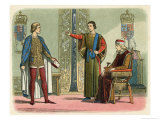 Henry VI with Richard the Duke of York Heir Apparent to the English Crown and Somerset Giclee Print by James Doyle