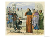Richard II Meets Henry IV at Flint Giclee Print by James Doyle