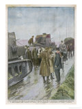 British Military Checkpoint Which was Set up (In Vain) to Control Disorder in the Province Giclee Print by Achille Beltrame