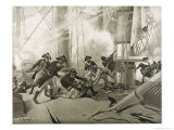 Battle of Trafalgar Nelson is Fatally Wounded Giclee Print by Henri Dupray