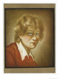 Rembrandt Van Rijn Dutch Painter and Etcher as a Young Man in a Self-Portrait Giclee Print by Wilhelmine Du Thil