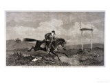 Pony Express in Peril Gicl&#233;e-Druck von G.h. Andrews