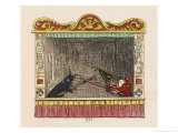 Punch Fights Old Nick Giclee Print by George Cruikshank