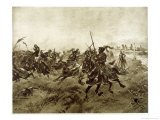 """Battle of the Spurs"", The French Defeated at Guinegatte by Invading Allies Giclee Print by Henri Dupray"