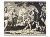 Orpheus Enchants the Animals and Trees with His Music Giclee Print by Briout 
