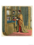 Edward IV Meets Louis XI on a Bridge Over the Somme Giclee Print by James Doyle