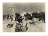 Graham Defeats Arabi at Kassassin Giclee Print by Henri Dupray