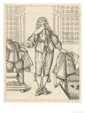An Edict Published in 1641 Seeks to Cut Down on Excess in Fashionable Men's Dress Giclee Print by Abraham Bosse