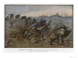 Dawn Breaks at the Maisonette as French Troops Struggle Through the Knee-Deep Mud Giclee Print by Jean Droit