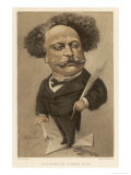 Alexandre Dumas Fils French Writer Premium Giclee Print by André Gill