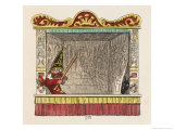 Punch Visited by Old Nick Giclee Print by George Cruikshank