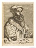 Niccolo Tartaglia Italian Mathematician Giclee Print by Nicolas de Larmessin