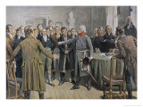 General Von Yorck Urges the East Prussian Diet at Konigsberg to Take Decisive Action Giclee Print by Woldemar Friedrich