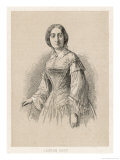 Georges Sand Alias Aurore Dudevant French Writer Giclee Print by A. Collette