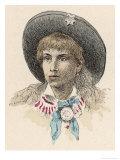Annie Oakley Premium Giclee Print by Jules Garnier